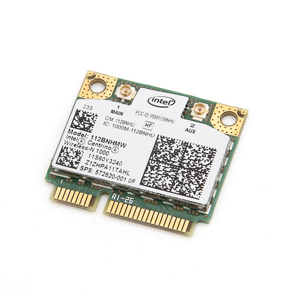 Mini pcie wifi karte Für Lenovo Intel Wireless-N 1000 112BNHMW 300 Mbps Wifi Halb Mini PCIe Karte 802.11b / g / n 60Y3240 Für Thinkpad L410 L510
