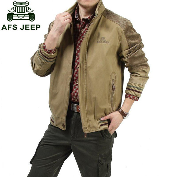 Big size M - 5XL Jackets European men AFS JEEP casual brand 100% cotton army green jacket coat man spring khaki jackets casaco #609