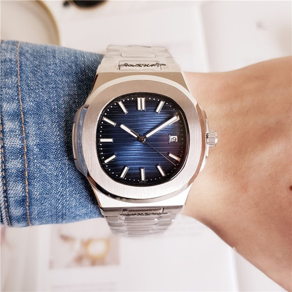 Gentalmen HOT mens orologi orologio quadrante blu moda movimento automatico orologio meccanico impermeabile femminile Relogio Montre Femme