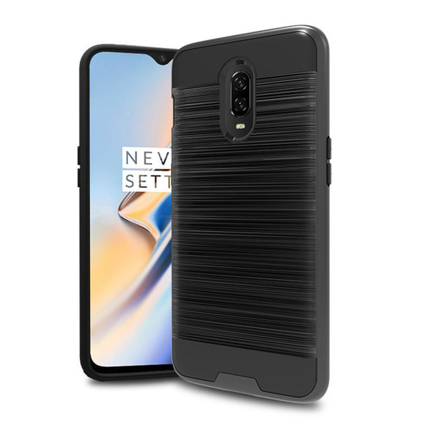 For Huawei Y7 2019 Y7 PRO 2019 Y7 PRIME 2019 2 In 1 Hybrid Brushed Armor  Case Anti Drop Impact Protective Soft TPU Hard PC Back Cover Design Cell