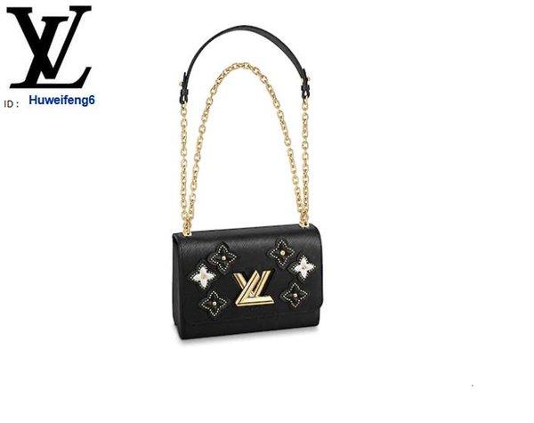 huweifeng6 M53762 TWIST MM rojo negro Bolsas Lconic bolsos de las mujeres BOLSAS ICÓNICOS SUPERIOR MANIJAS BOLSOS TOTES CRUZ cuerpo de la bolsa tarde de los embragues