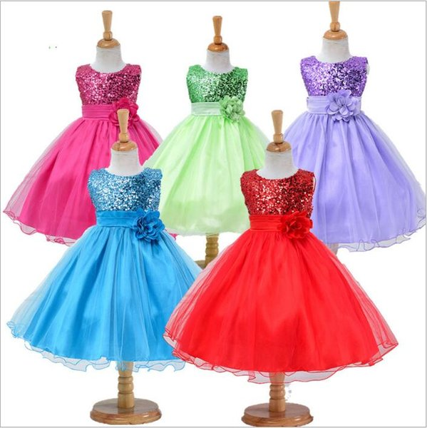 Baby Clothes Girls Evening Ball Gown Junior Senior Teens Costume Sequin Dresses Floral Bridal Princess Party Dress Formal Occasion Wea C4884