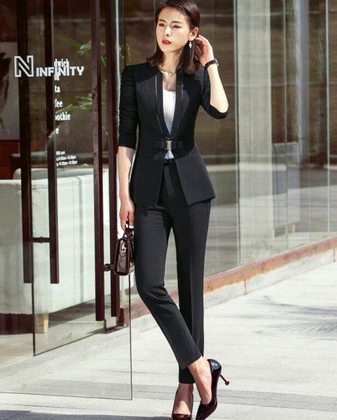 Siyah ceket ve pantolon