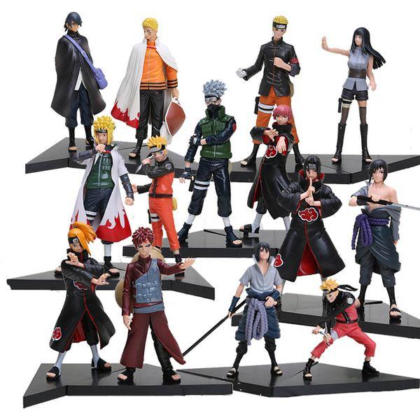 Nuevo 2 unids / set PVC Anime Japonés Figuras Muñecas Naruto Uchiha Sasuke + Uchiha Itachi Juego Naruto Shippuden Figura de Acción de juguete