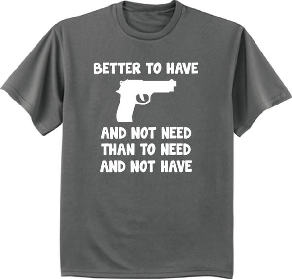 Büyük ve Uzun boylu t-shirt 2nd değişiklik hakkı silahlar silah gizli tutmak için tee Komik T Shirt Erkekler, Yüksek Kalite Tops, Tees Erkekler 100% Pamuk
