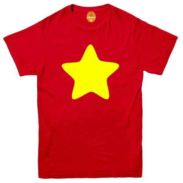 Steven Universe Yellow Star T-Shirt Shield Jap Cartoon divertido Ruby Gem Cookie CatFunny envío gratis Unisex camiseta Casual top