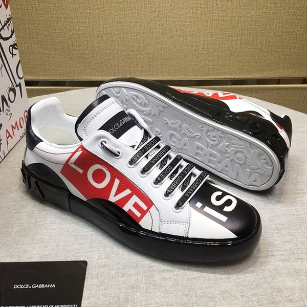 Zapatos impresos piel de becerro de Portofino las zapatillas de deporte de los hombres de la venta de los hombres zapatos de moda Peso ligero Moda respirable con cordones de Herren Sportschuhe