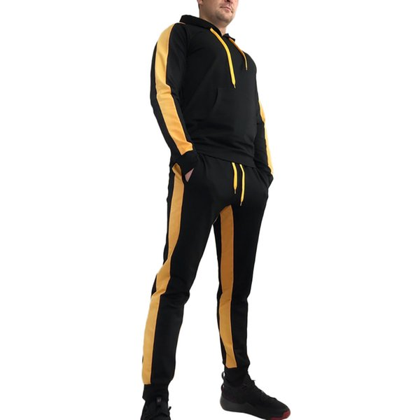 Sweatshirt Men Tracksuit Men Set Fashion Zipper Long Sleeve Tops+Long Pants Couple Set Hoodies Sweatshirt Pants Jogger Suit