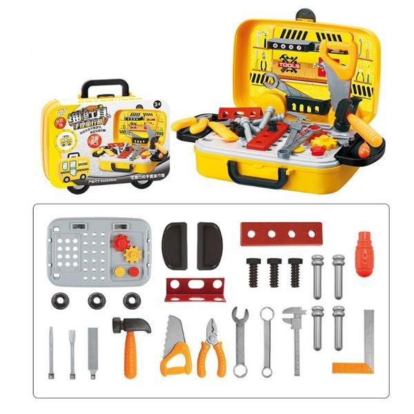 28pcs/set Portable Simulation Set Bag Case Role Play For Children Kids Repairing Tools Kit