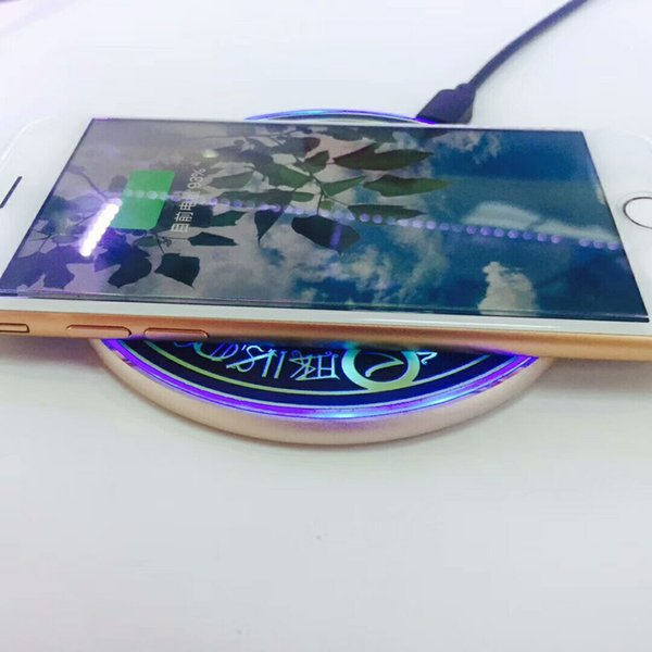 metal Comic Magic Array Wireless Charger 10W Qi Wireless Universal Fast Charging pad for iPhone charger Samsung Smartphone
