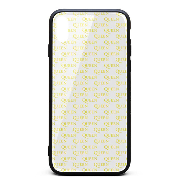 IPhone Xs Max Case 6.5 inch Queen logo pattern yellow scratch-resistant screen protectors pretty TPU Rubber Gel Silicone phone cases