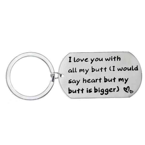 4641dbbacf Jewelry ; Key Rings ;. 12 Pc/Lot I Love You With All My Butt Keychain Dog  Tag Keyring Lovers