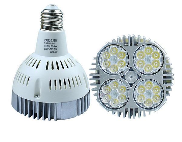 Lâmpadas do mercado 35 W 3500LM PAR30 CONDUZIU o E27 bulbos CRI88 85-265 V Loja de Exibição de Loja de Roupas Showcase Fixture Teto Downlights CE UL