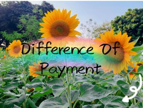 top popular Difference of payment choose the quantity as the total payment should be close to the difference of payment 2020