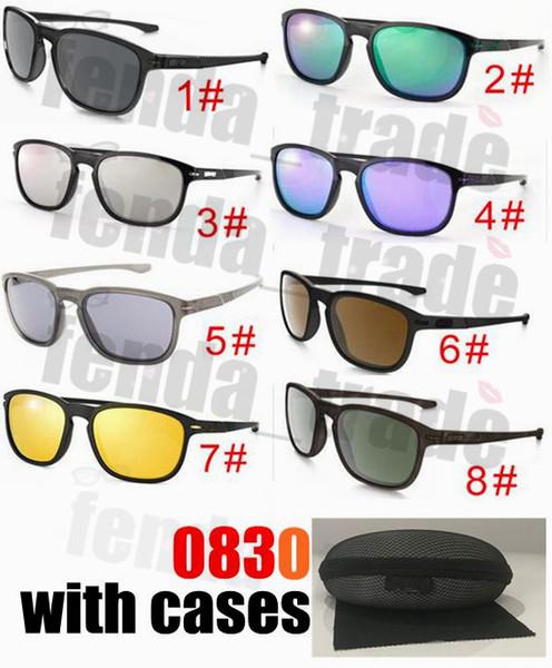 Kılıfları ile Marka Yeni Klasik Moda Unisex Erkek Kadın Güneş Gözlüğü Tasarımcı Vintage Shades Güneş Gözlüğü 8 Renkler 10 ADET Fabrika Fiyat en ucuz
