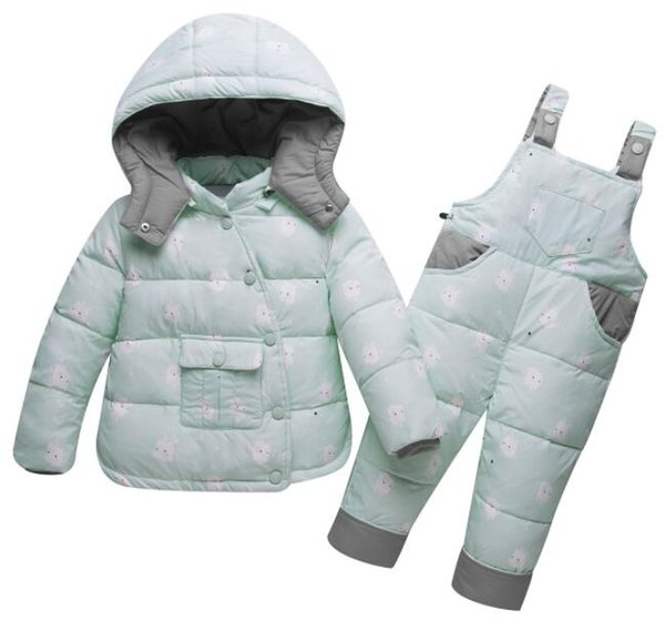 Kış Çocuklar Aşağı Konfeksiyon Erkek Sıcak Giyim Kız Aşağı Ceket Sıcak ceketler Toddler Snowsuit Giyim Romper Giyim Seti Çocuk Kayak Suit
