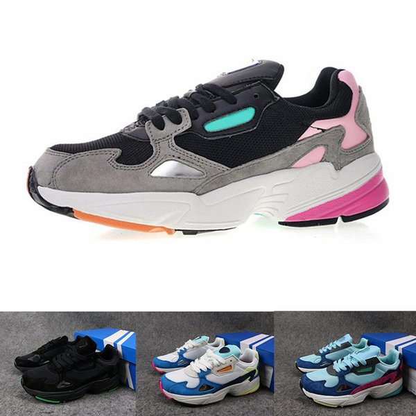 2019 2019 New Falcon W Mens Women Falcon Shoes Outdoor Casual Designer Running Shoes Black Blue Gray Trainers Women Trend Sports Walking Sneakers From