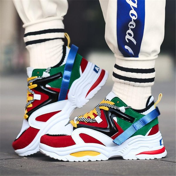 2019 Men Women Casual Sport Shoes Breathable Comfortable Unisex Dad Work Shoes Outdoor Sneakers Male Mesh Non-slip Walking