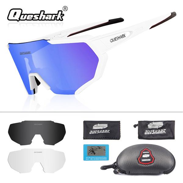 86284ef882 QUESHARK 2019 Nuevo Diseño Polarizado Gafas Ciclismo Para Hombre Mujer Gafas  Ciclismo Gafas de sol 3