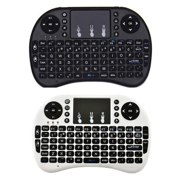 Satış i8 2.4 GHz Mini Kablosuz Klavye PC Smart TV için Touchpad ile Fly Air Fare