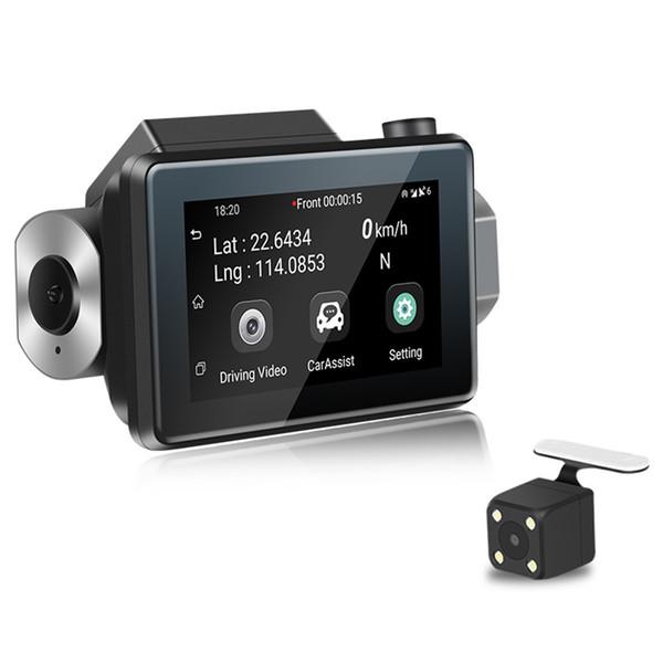 3 '' IPS écran tactile Dash Cam HD 1080P DVR Caméra 3G Wifi double objectif caché