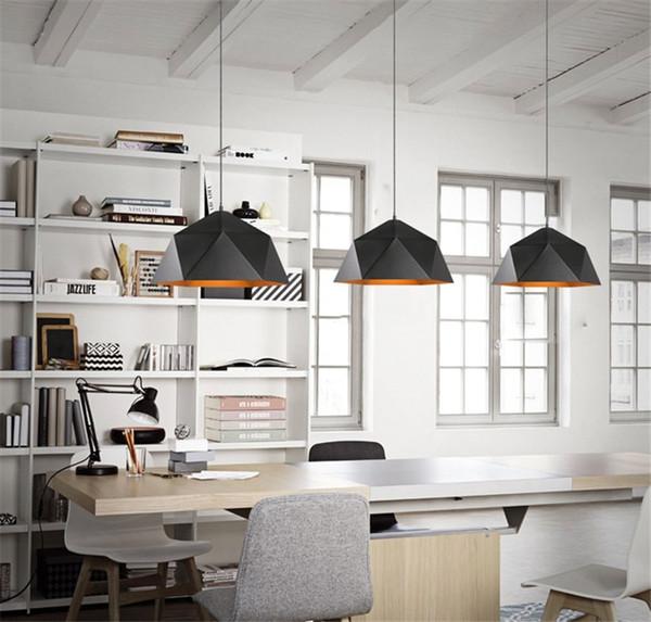 Pays américain pendentif lampe loft créatif restaurant bar café-restaurant diamant lustre en fer forgé rétro lustre éolien industriel I50