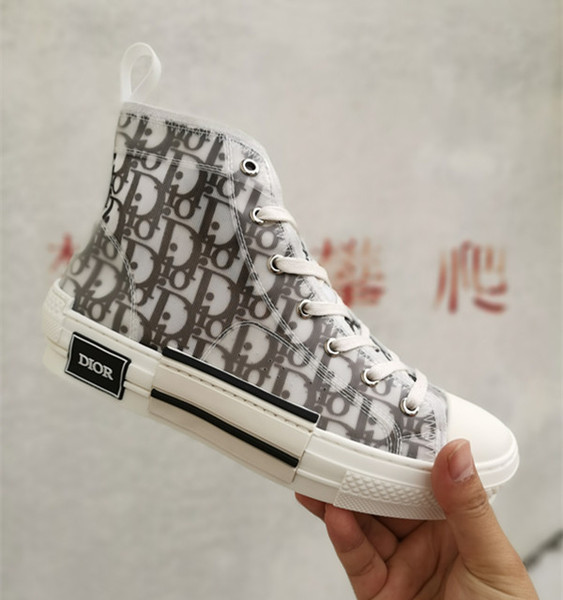 best selling Branded Women Flower Print Canvas Textured Lace-up High Low Top Sneaker Deigner Men Black Contrasting Star Rubber Sole Casual Shoes
