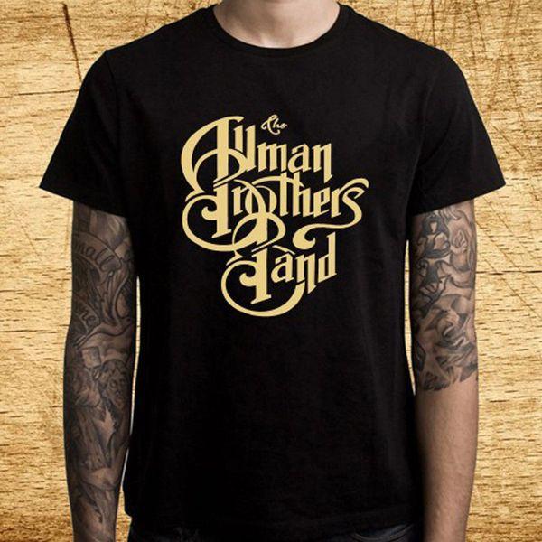 Allman Brothers Logo Lady Long Sleeve Black T-shirt Rock Woman Rock Band Tee
