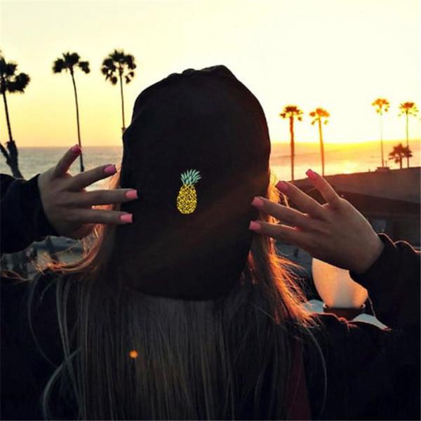 Beyzbol şapkası Spor Ayarlanabilir Womens Golf Şapka Pretty Bir Boyut 2019 Yeni Sıcak Satış Yaz elbise Zarif baskı Ananas