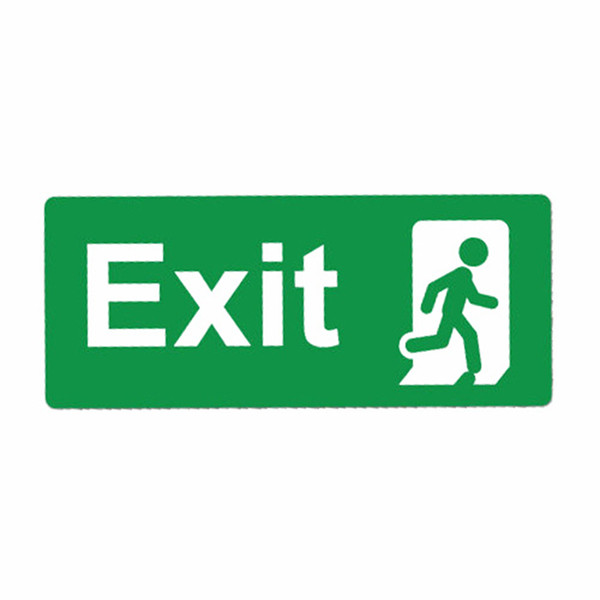 Green Emergency Exit Sticker Decal Safety Sign Interesting Car Bumper Vinyl Packaging Personality Accessories