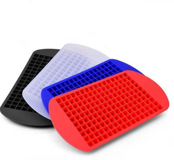 Silicone Ice Cube stampo quadrato del cubo di ghiaccio stampi con coperchio vino Vassoio di ghiaccio creativi della cucina Strumenti 4 colori YZ65