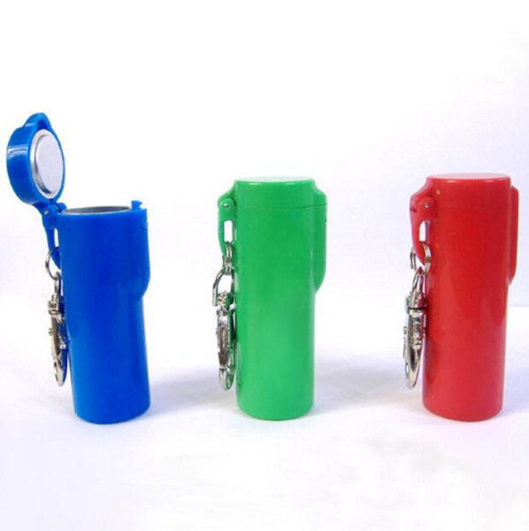Newest Colorful Pocket Ashtray With Keychain Round Cigarette Smoking Ash Tray Holder Tool For Home Office Use Convenient Sale
