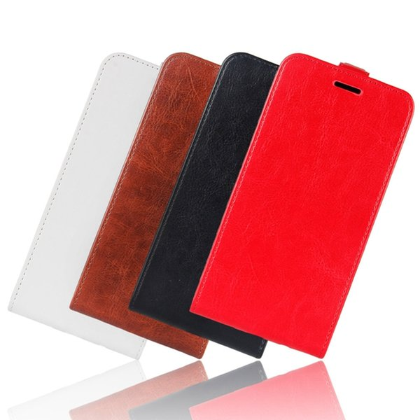 Crazy Horse Flip Leather Case For MOTO P40 PLAY Power Google Pixel 3A XL LG Stylo 5 ONE PLUS 7 OPPO F11 Pro ID Photo Skin Cover Luxury 50pcs