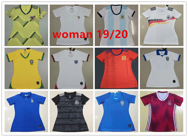 World Cup 2020 Colombia.2019 2019 2020 Women Jersey Colombia Mexico Spain Brazil 19 20 America Cup Jersey Women S World Cup Football Jersey From Jersey500 15 11