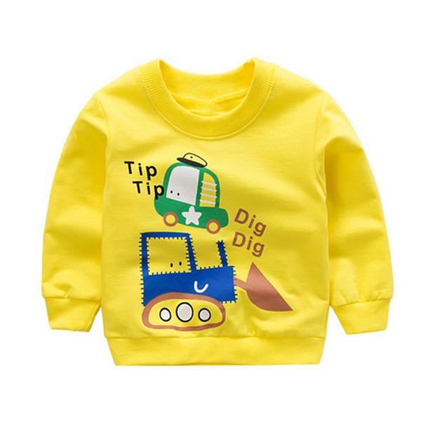 Children Baby Clothing Sweatshirt Long sleeve Cartoon Car Print Casual Sweatshirt Autumn Kids Tops