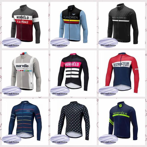 Maglia Morvelo personalizzata da ciclismo Maglia invernale termica in jersey da uomo invernale confortevole da indossare sport all'aria aperta Jersey S6358
