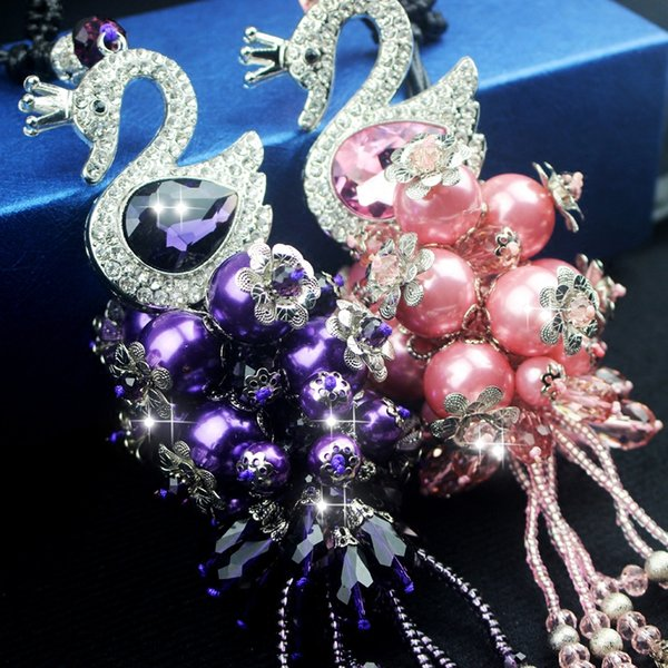 Quality crystal swan Car Hanging Rrnaments Auto Crystal Ornament Car Decoration Auto-Interior Pendant for Gift