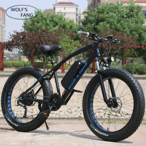 top popular wholesale Mountain Bike Electric Bicycle 48V500W 13Ah 27 speed 26X4.0 powerful electric Fat bike Lithium Battery Off road bike 2020