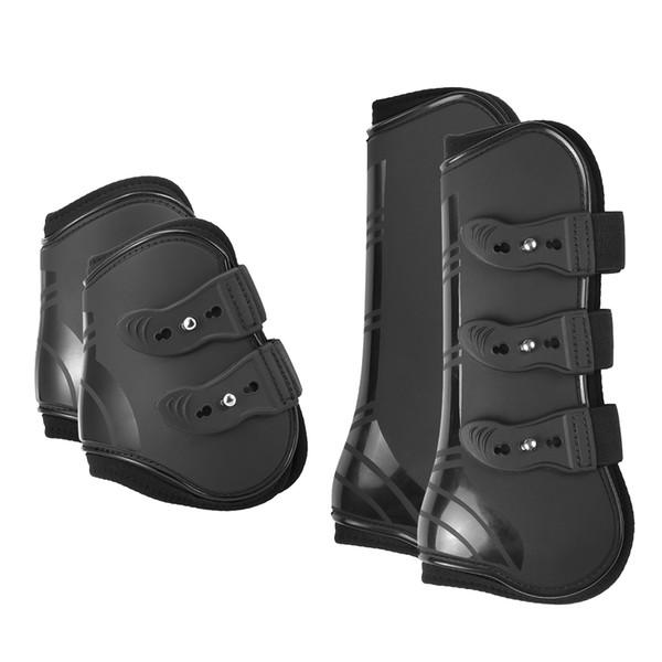 At Bakım Ürünleri Için Ekipmanları 4 ADET Ön Arka Çizmeler Ayarlanabilir At Bacak Çizmeler Equine Ön Arka Bacak Guard Binicilik