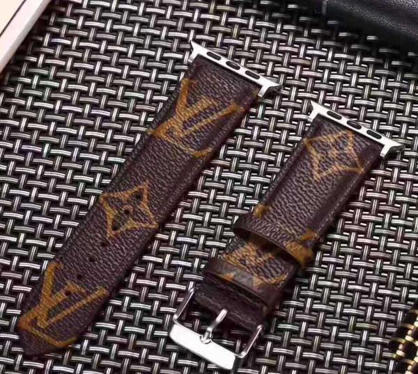 Luxury apple watch trap de igner apple watch band iwatch 38 40mm 42 44mm iwatch 2 3 4 band leather brand iwatch trap