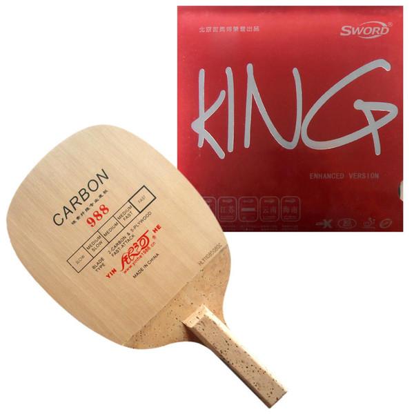 Pro Tischtennis / PingPong Combo Schläger: Galaxy YINHE 988 mit Schwert KING (Enhanced Version) Rubber Japanese Penhold JS