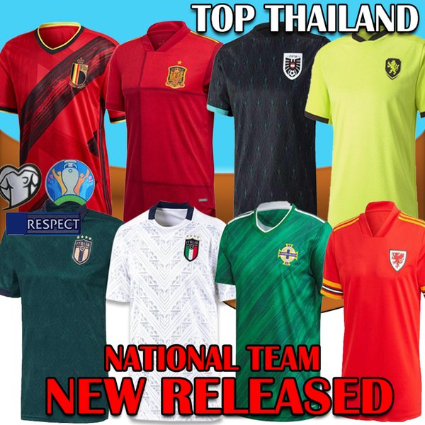 2020 national team Northern Ireland Argentina Wales Soccer Jersey 2021 BALE Shirts Italy Sweden Belgium Spain Russia Maillot Camiseta