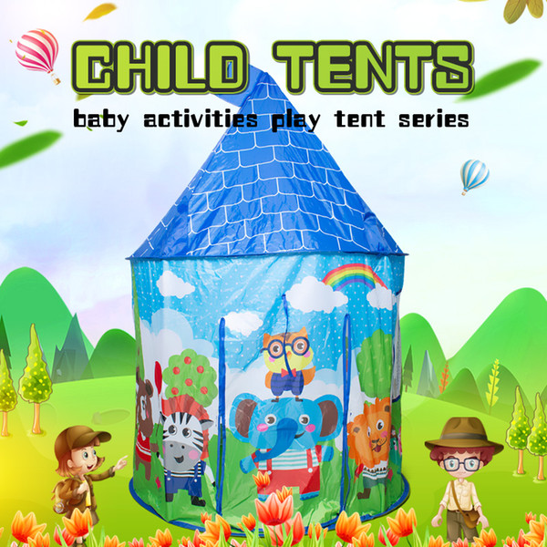 Portable Children's Tent Toys Baby Ball Pool Castle Activity Play House Kids Folding Playtent Baby Beach Tent Outdoor Toy ]