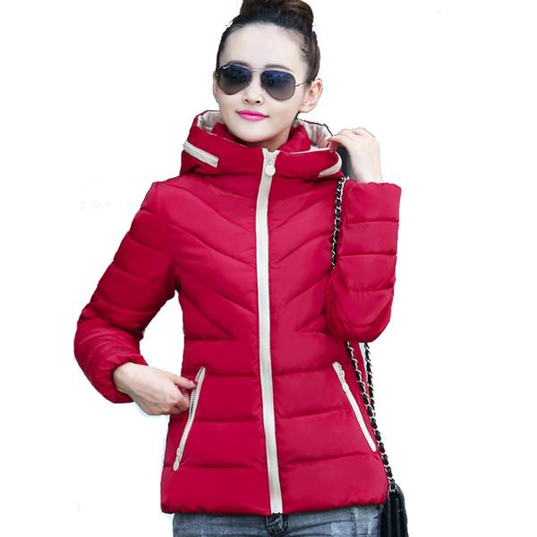 Big Size 3XL Hooded Winter Women Jacket Ultral Light Colors Short Jaqueta Denim Autumn Female Coat Outerwear