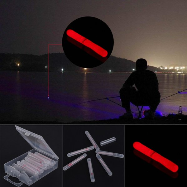15 Stück rot leuchtende Licht Nacht Float Dark Glow Angeln Lightstick Fluorescent