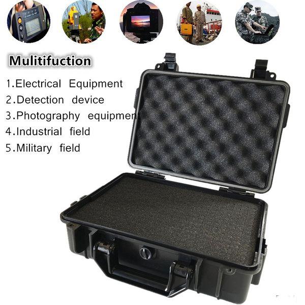 Stoßfeste Kamera-Sicherheitsbox ABS wasserdicht versiegelt Hardbox-Ausrüstungskoffer mit stoßfestem Schaumstoff-Werkzeugkasten
