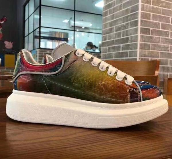 RUN AWAY кроссовки дизайнерская обувь Высококачественная роскошная обувь на шнурках кроссовки BRAND мужчины повседневная ЛЮКСЕМБУРГ Красочные кроссовки обувь 20