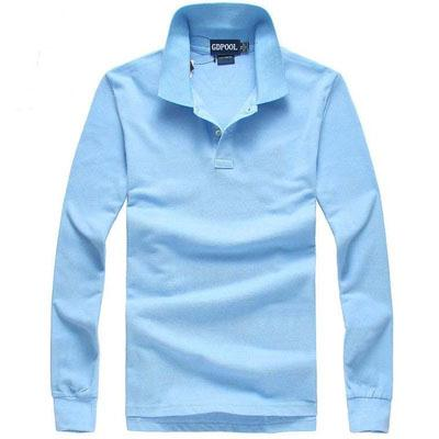 New high quality men Fashion Turn-Down Collar Autumn and winter Men's polo Shirt Long sleeves t -shirts polos