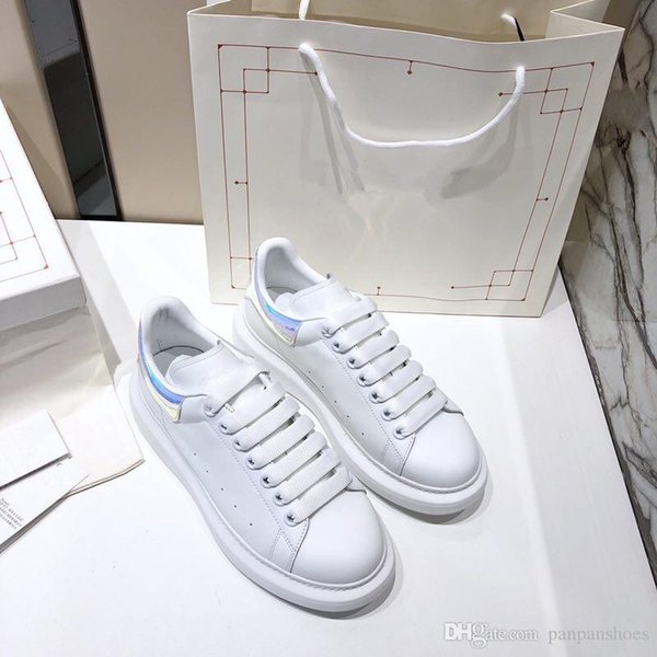 marca Super King zapatos de las zapatillas de deporte para hombre de cuero genuino del diseñador Sorrento zapatillas de goma en dos tonos únicos zapatos de las mujeres ocasionales Formadores xrx19090908