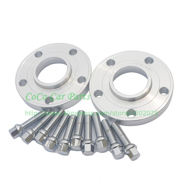 2pcs PCD 5x112 Center Bore 66.6mm REAR Hub Centric Wheel Spacers 10mm Thick With 10pcs Lug Bolt